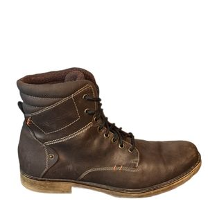 Franco Fortini brown ankle boots Amped 2 sz 13 S75
